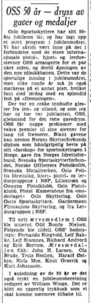 Aftenposten, torsdag aften, 21. juni 1962.