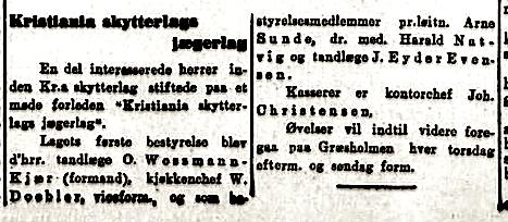 Denne korte notisen var å lese i Aftenposten, onsdag 24. juli 1912.