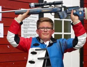 Espen Teppdalen Nordsveen, OSS og Norge, EM mester for junior 2016. Foto: Line Teppdalen.