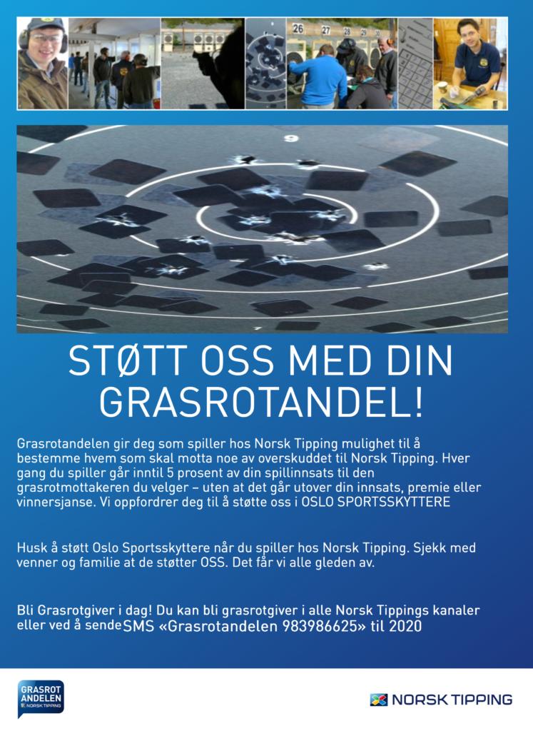 Støtt Oslo Sportsskyttere gjennom Grasrotandelen.
